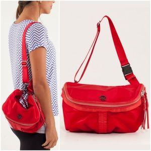 RARE Lululemon Good Fortune Bag Currant Red